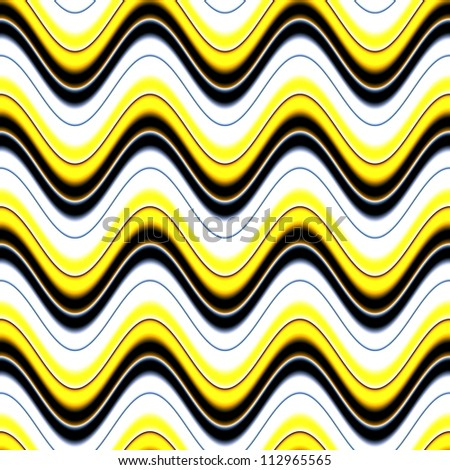 Op Art Seamless Waves Texture Yellow Black and White