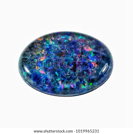 Opal cab oval shape isolate