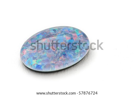 Opal Jewel isolated against a white background