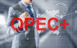 Opec concept. Organization of the Petroleum Exporting Countries.