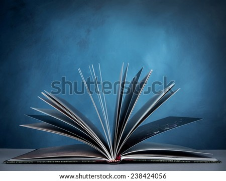 open a book for imagination of world wide and  knowledge