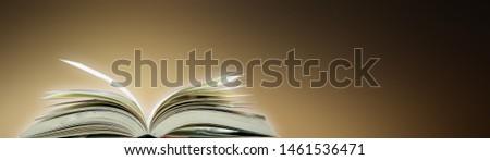 Open a magical magic book with a dark background. #1461536471