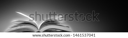 Open a magical magic book with a dark background. #1461537041