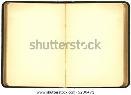 blank pages in book. ook with lank pages and