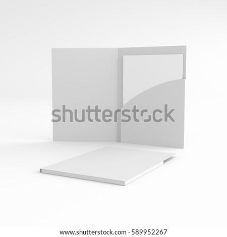Open and shut folders. 3D rendering