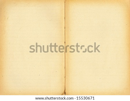 Open antique book with lines, blank for your own text.