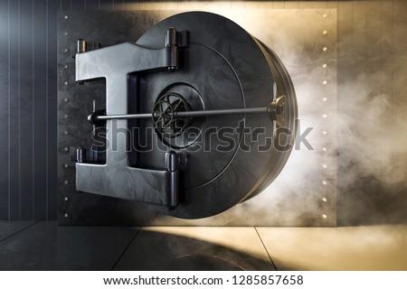 Open bank safe (3D Rendering) ストックフォト ©