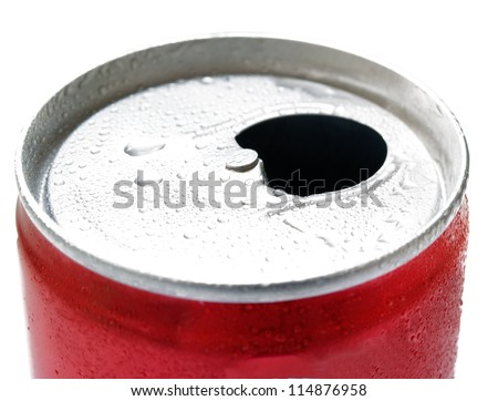 open beer can close up
