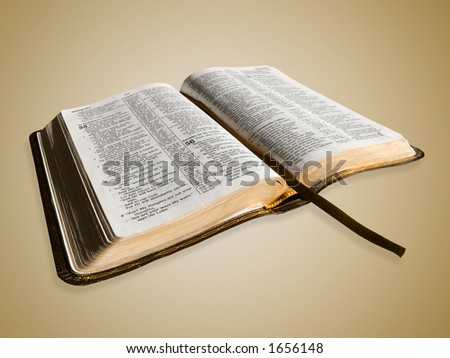 Open Bible with bookmark