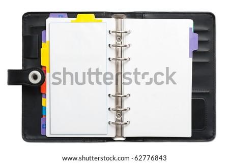 Open blank Personal Organizer