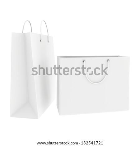 White Shopping Bag Black Handle Blank White Shopping Bags