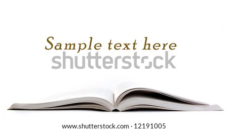 Open Book and copy space for sample text here