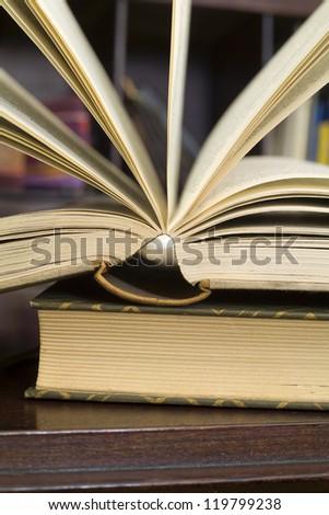 open book, close up