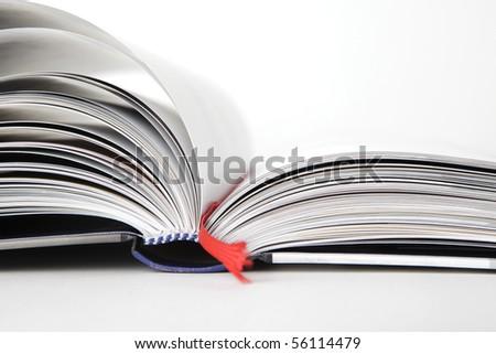 Open book, close- up