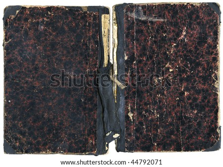 Open book - damaged cover isolated on white - with clipping path - XL size