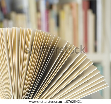 open book in a library