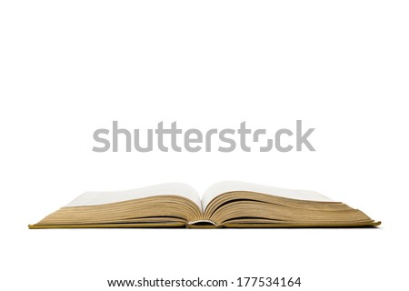 Open book isolated on white background #177534164