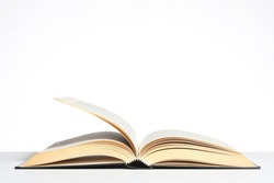 open book isolated on white background with copy space for your text