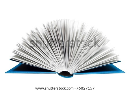 Open book isolated on white. Clipping path included.