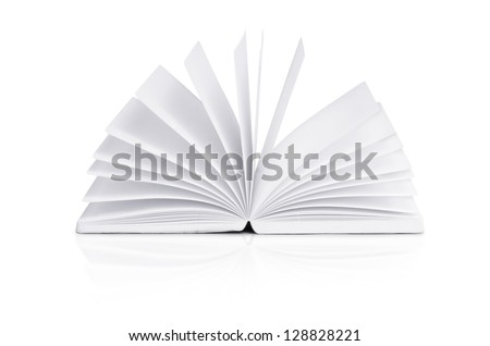 open book on white background with clipping path