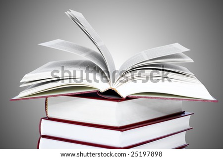 open book over close books. education concepts