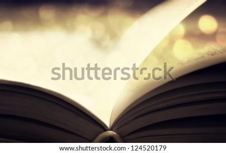 open book Photo in retro style. - stock photo