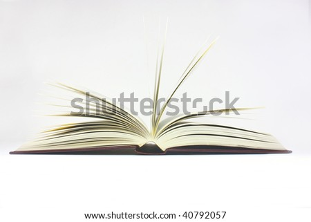 open book shot on a white background