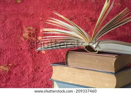 open book, tree copy space