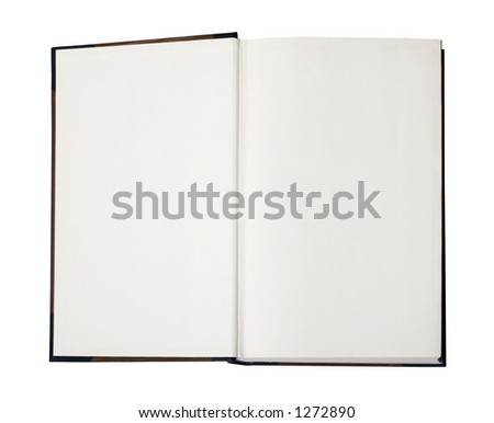 Open book with empty pages - image contains a clipping path