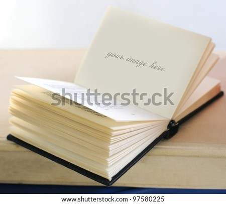 open book with free space - stock photo
