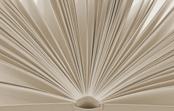 Open book with  pages abstract background