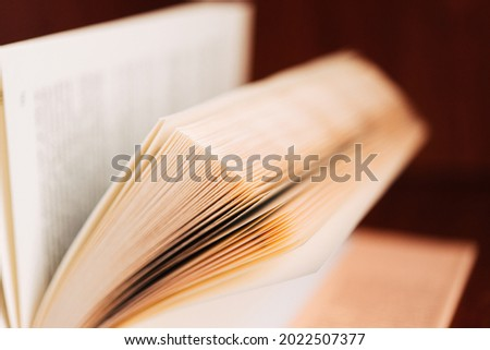 Open book with raised pages. The power of knowledge and wisdom. Place for your text. Foto stock ©