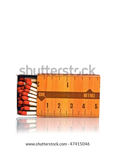 Open box of matches isolated on white
