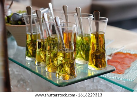 Open buffet restaurant with a wide range of delicious beverages.