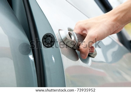 Open car door - stock photo