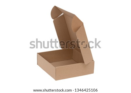 Open carton isolated on a white background #1346425106