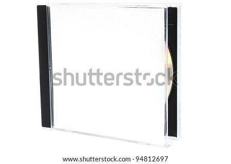Open CD box with disc on white background