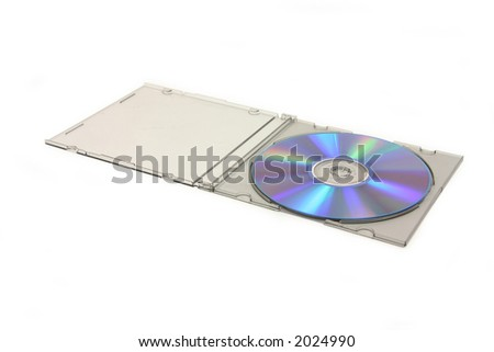 open cd case with blank cd