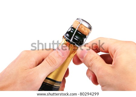 open champagne cork