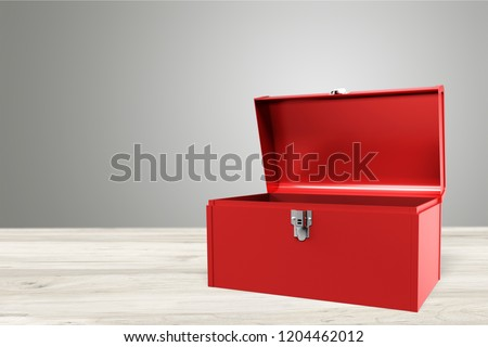 Open - closed red toolbox #1204462012