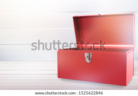 Open - closed red toolbox #1525622846