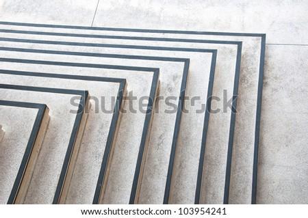 open corner stair