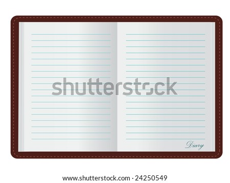 Open Diary (JPG and Vector versions of this file both available in my portfolio)