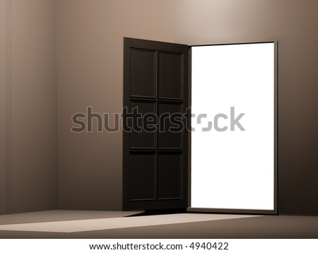 open door 3d render