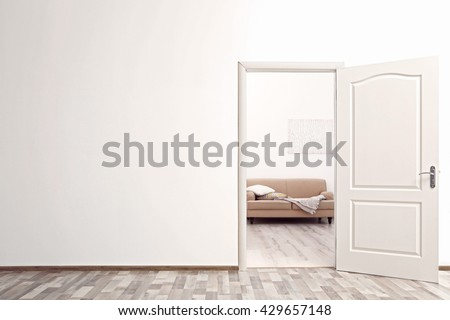 Open door in the room #429657148