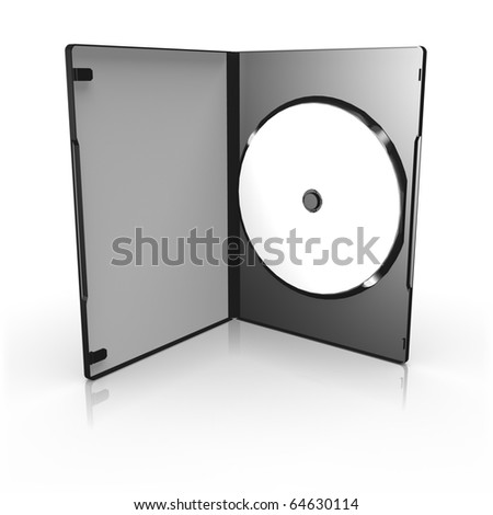 Open DVD Box on white background