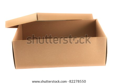 Open Empty box isolated on white