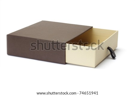 Open empty gift box isolated on white background