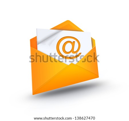 open envelope with e-mail symbol