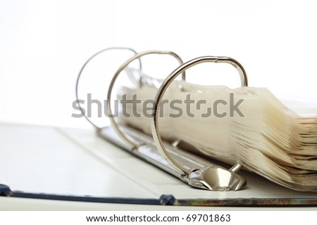 open file folder on white background
